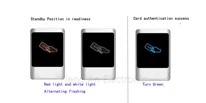 125KHZ EM RFID access controller 1000 user metal panel water proof touch Door Access Machine for Access control system