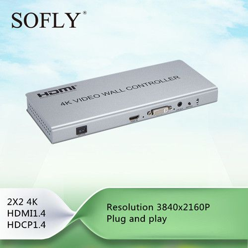 Good HDMI video wall controller 2×2 180 Degree Rotate with