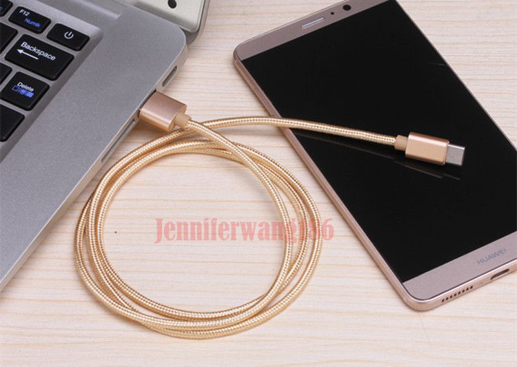High Speed New USB Type C Cable Micro USB Cable Braided Nylon 1M 2M 3M Charging Cable For Cellphones In Stock