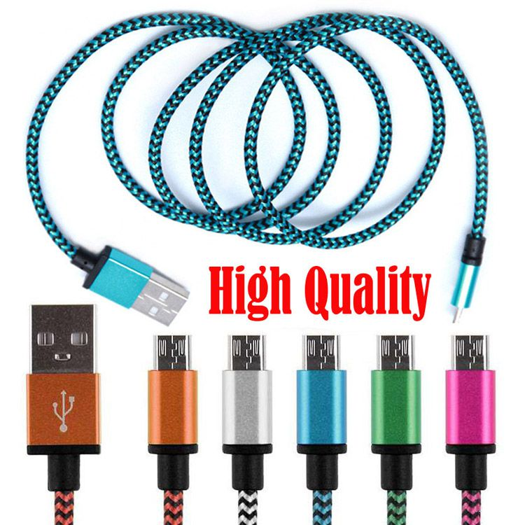 1M 2M 3M High Quality Braided USB Cable Universal Micro USB Charging Cord For Android All Cellphone Charger Wire In Stock