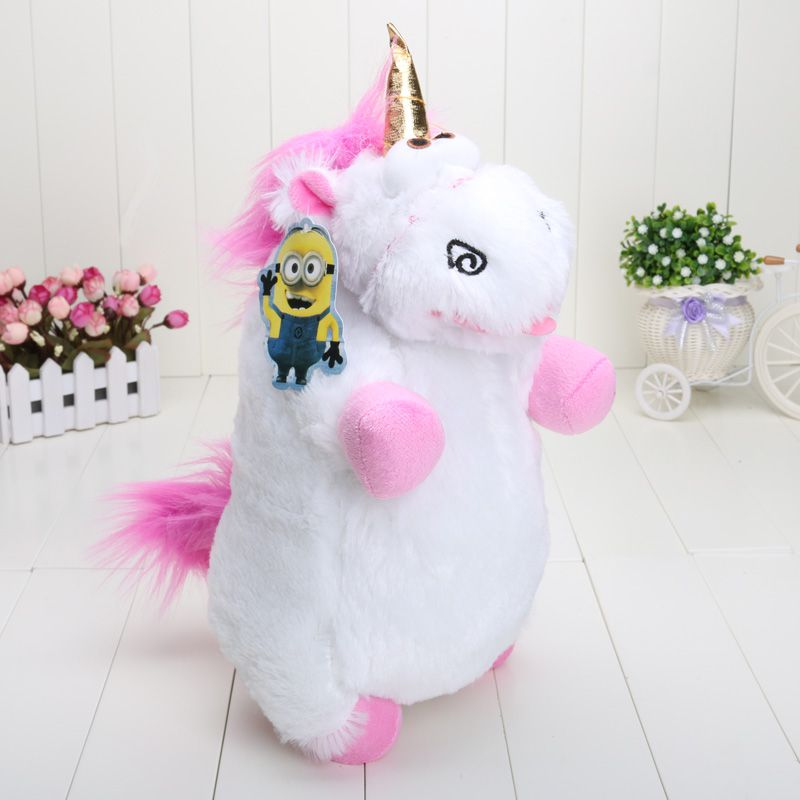 40cm Despicable Me Fluffy Unicorn Plush Pillow Toy Doll big Fluffy figure gift