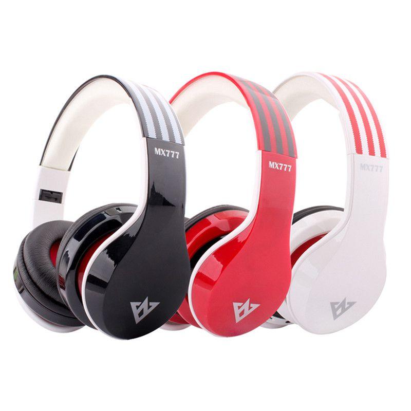 2015 Bluetooth headphone MX777 Stereo Wireless Bluetooth Headphone Headset Earphone With MIC Support Hands-free TF Card FM Radio