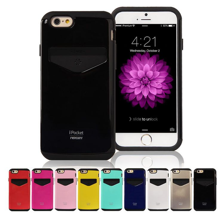 Mercury iPocket Premium Case Card Slot for iphone 6 6S Plus 6+ 6S+ Samsung Galaxy Note4