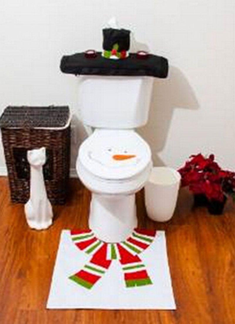 Enjoyable Snowman Bathroom Toilet Seat Cover Home Decoration Christmas Pabps2019 Chair Design Images Pabps2019Com