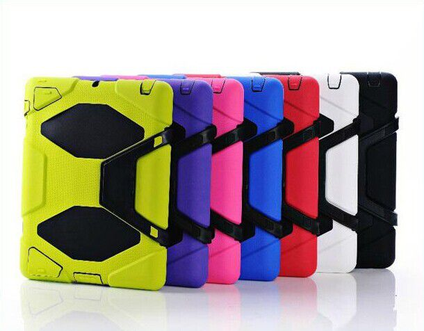 Heavy-Duty Case w Stand Military Cover with Screen Protector for Apple iPad 2 3 4 iPad Air iPad 5 7colors