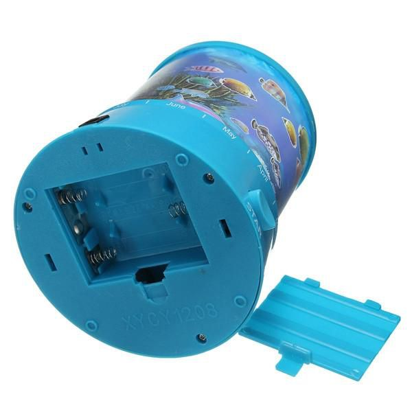 New Bright Auto Rotate LED Ocean Night Projector Lamp Light With Music Home Decor order<$18no track