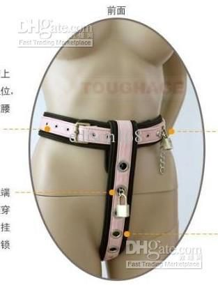 New Comfortable TOUGHAGE Model-T Female Adjustable leather Chastity Belt device/bondage hand belt