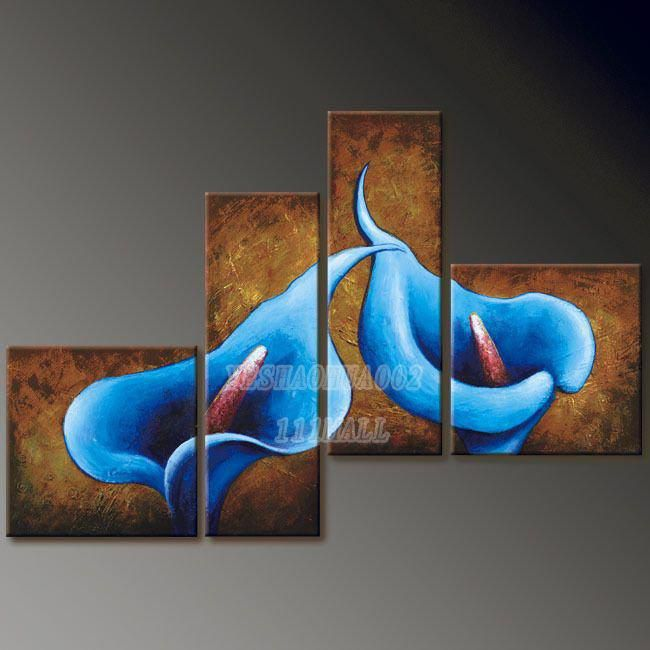 High quality oil paintings wholesale home decoration Modern abstract Oil Painting wall art B88 4pcs/ set free shipping