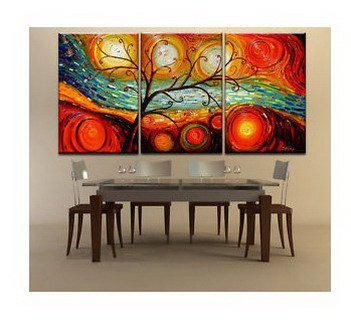 dawn Setting sun flower tree gifts Small wholesale Modern abstract canvas art oil painting murals hotel adornment picture