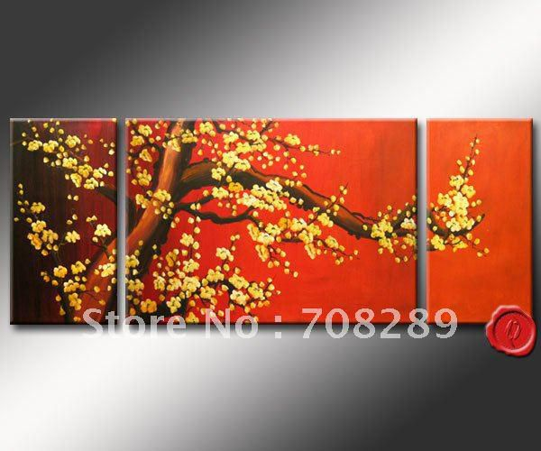 abstract oil paintings cherry blossom high quality home decoration oil painting Beach Modern absatract wall art canvas gifts 450