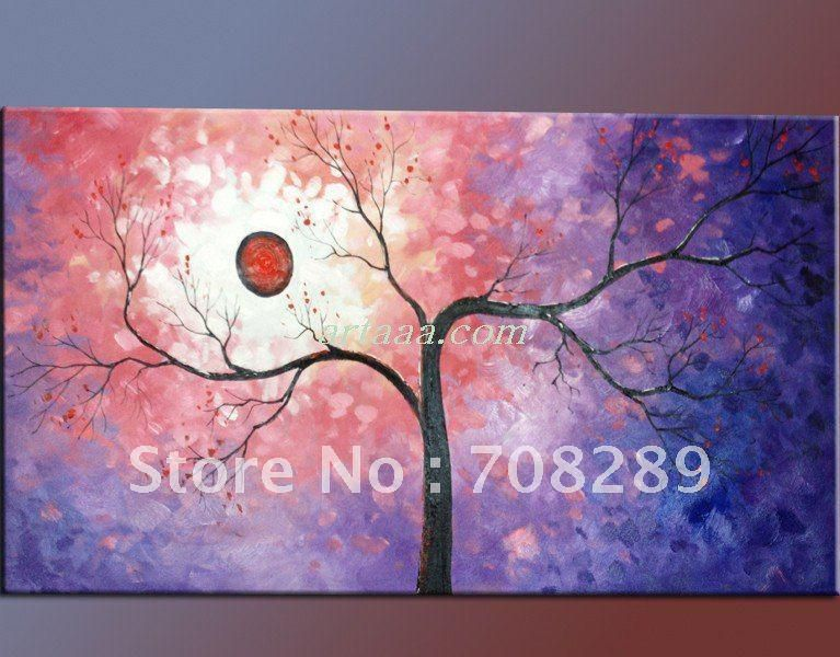 gray red black tree landscape art oil paintings Modern abstract oil painting art on canvas Mixed wholesale adornment