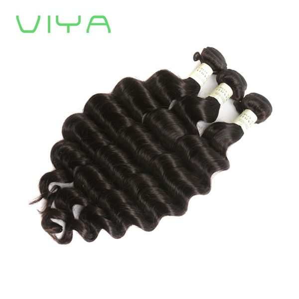 VIYA Malaysian Virgin Hair Unprocessed Extensions Double Weft Weave Bundles Natural Black Color No Tangle Hair Extensions WE