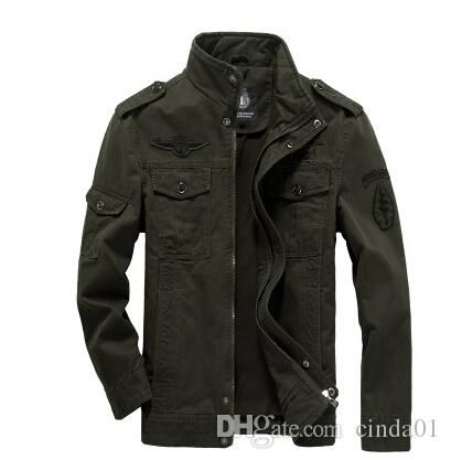 Plus Size Clothing Men Military Army Jackets Casual Warm Winter Autumn Coats Embroidery Fleece Thick Jacket Clothes for Male