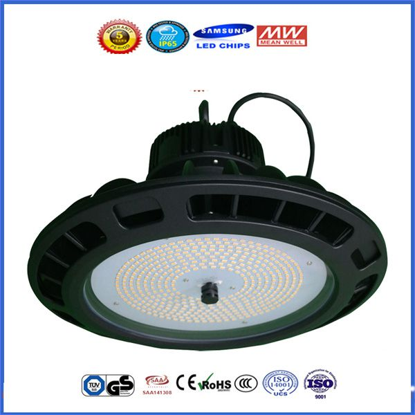 2016 New D280mm TUV UL SAA 100-277V UFO LED Pendant Lighting Fixture SMD 5630 Meanwell 100 Watt LED High Bay UFO Lights
