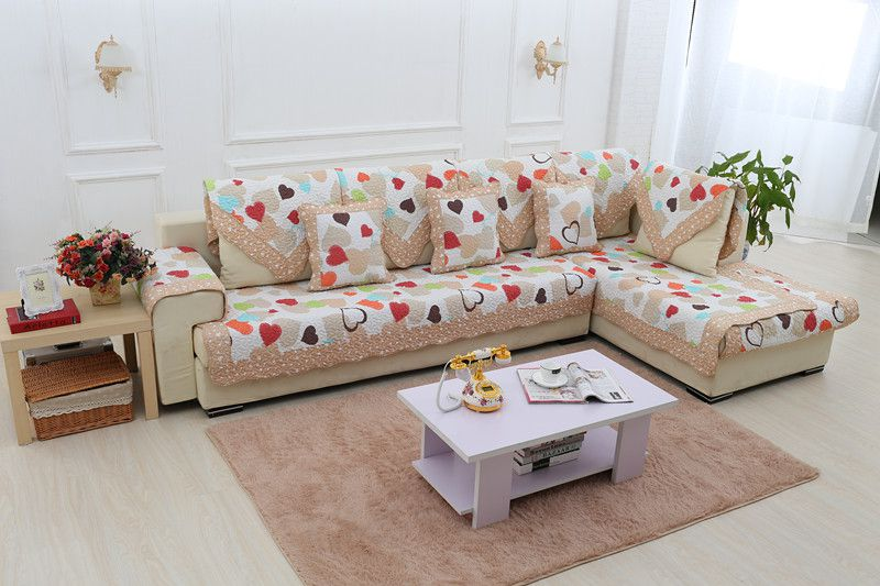 2018 new kind 100%cotton loving quliting for four seasons of sofa cover set