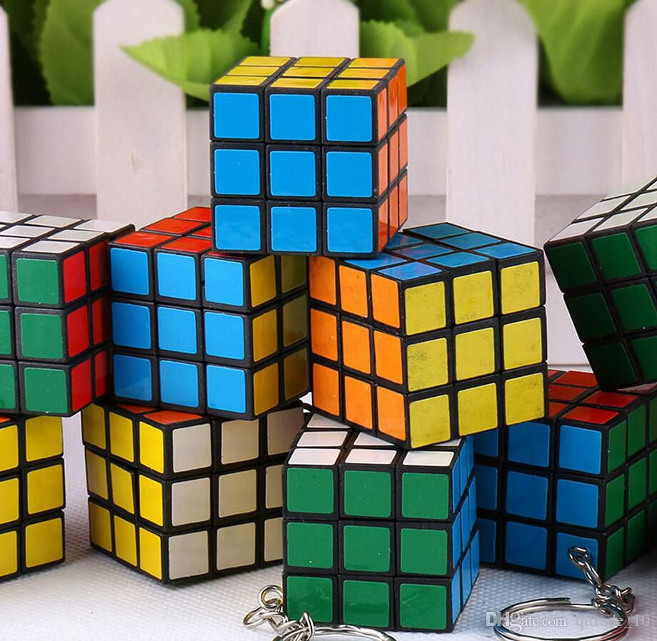 Kid's and Students Toys Keychain Rubik's Cube 3x3x3cm Puzzle Magic Game Toy pendants Keychain Kids Educational Toys Students Toys