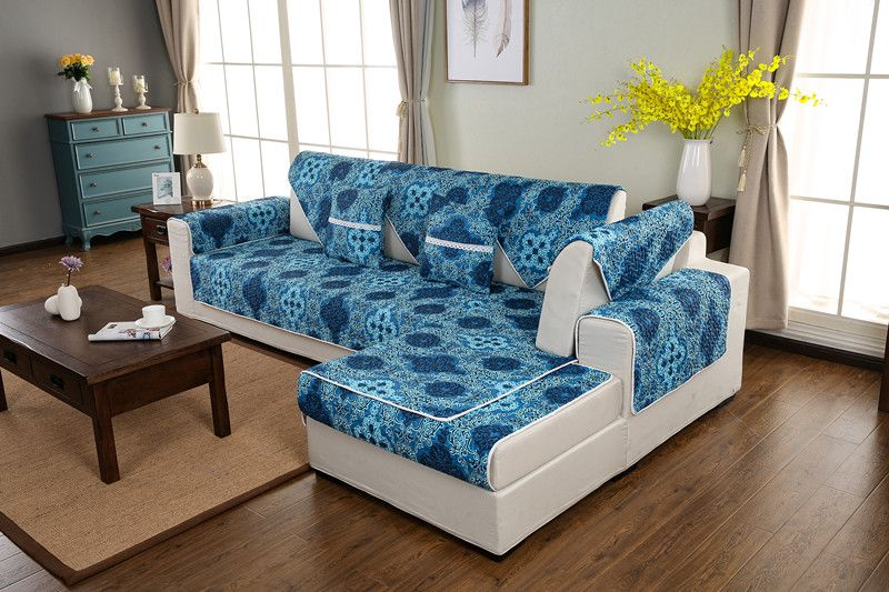 2018 new kind overflow 100%cotton four seasons of sofa cover set
