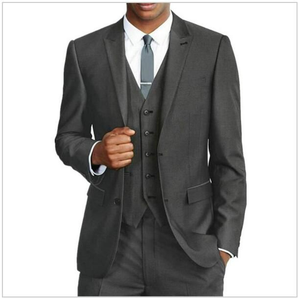 2015 Formal Wedding Tuxedos for Men Two Button Slim Fit 3 Pieces Groomsmen Suit ( jacket+Pants+tie) AOA--016
