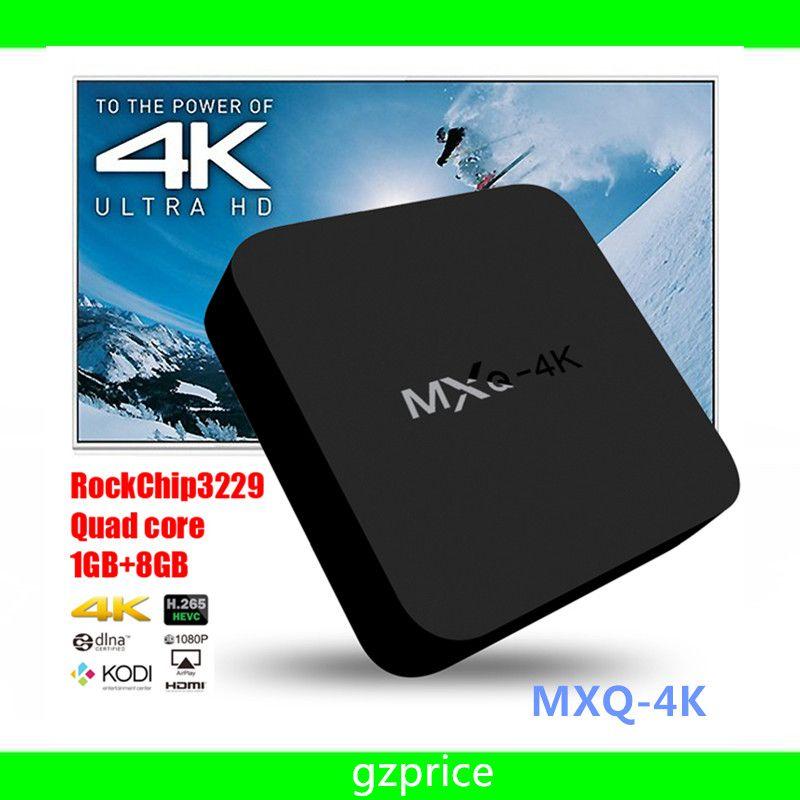 MXQ 4K Wifi TV BOX Rockchip RK3229 Quad Core IPTV Kodi15.2 Android 4.4 TV box Kitkat 1GB/8GB fully Loaded WIFI Airplay Miracast MXQ-4K 10pcs