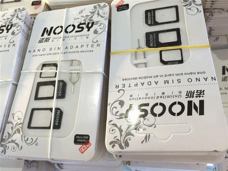 New Hot Sale 4 In 1 Nano SIM card to Micro SIM Nano Micro to mini sim adapter for iphone samsung sim card adapter 100pcs/lot