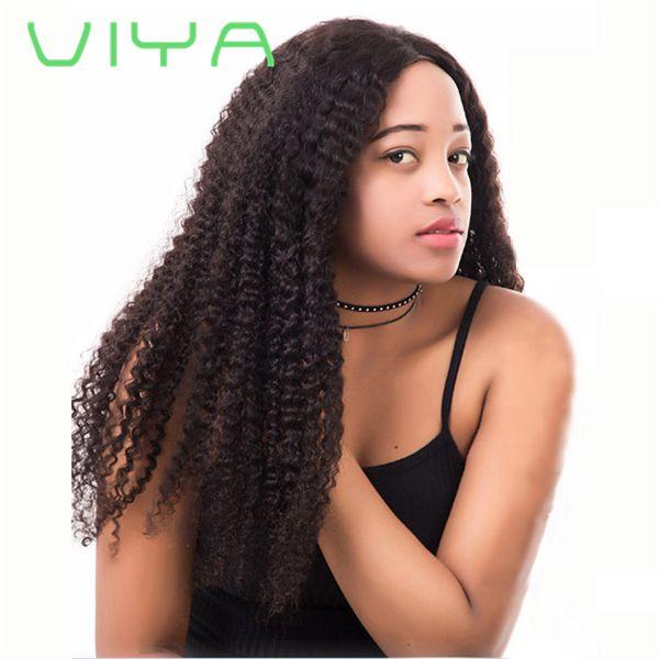 Viya Peruvian Hair Bundles Unprocessed Kinky Curly Human Hair Weave