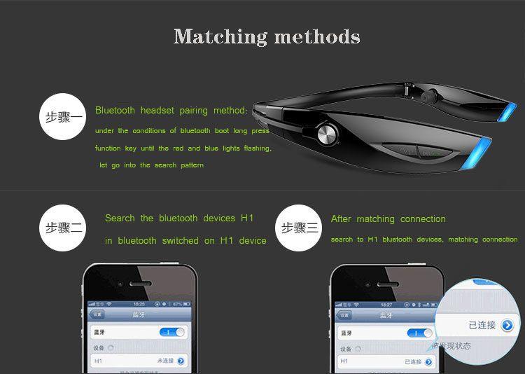 YIJIN-Bluetooth wireless headset ear Bluetooth 4.1 drag two support IPHONE Samsung HUAWEI V8 car Bluetooth headset