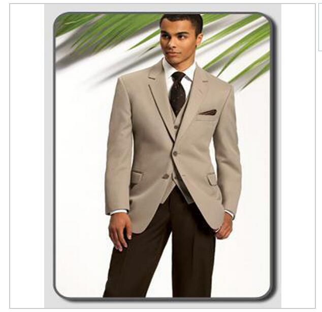 2015 Formal Wedding Tuxedos for Men Two Button Slim Fit 3 Pieces Groomsmen Suit ( jacket+Pants+tie) AOA--010
