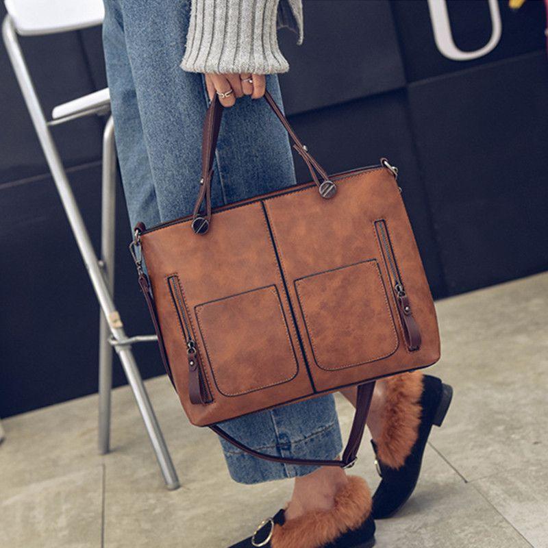 e48e8cf93e68 Women Handbags Vintage Bags Retro Leather Tote Bag Girl Large Handbag Women  Tassel Casual Hand Bag