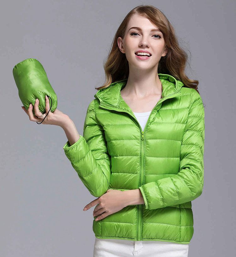 03aad6e40 Winter Spring Women 90% White Duck Down Jacket Woman Hooded Ultra ...