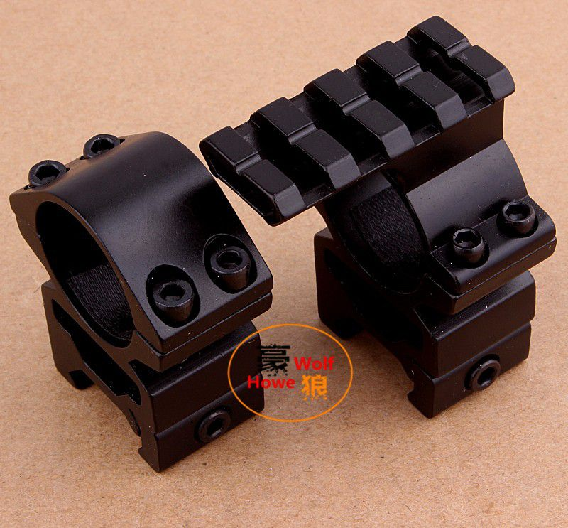Free shipping Huning 1'' 25.4mm Rings Scope Mount 20mm+Same Base/extend Weaver/Picatinny Rail 20mm 2in1