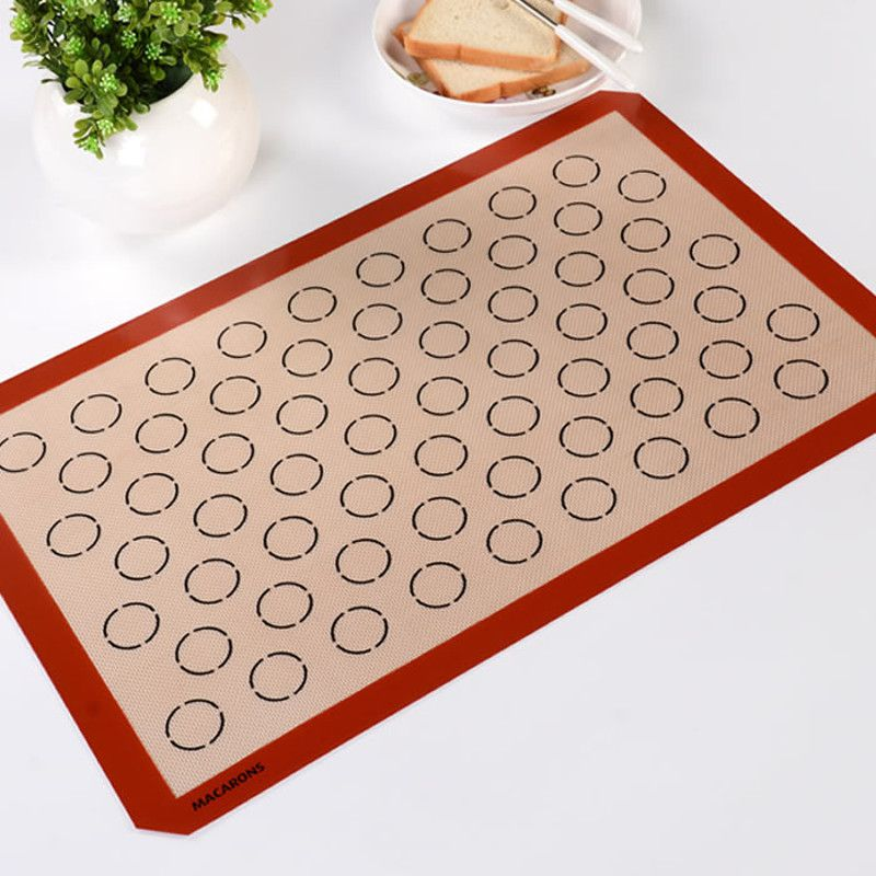 Non Stick Silicone Baking Mat Macarons Baking Mat For commercial Oven Pan Sizes Liner 37X57CM