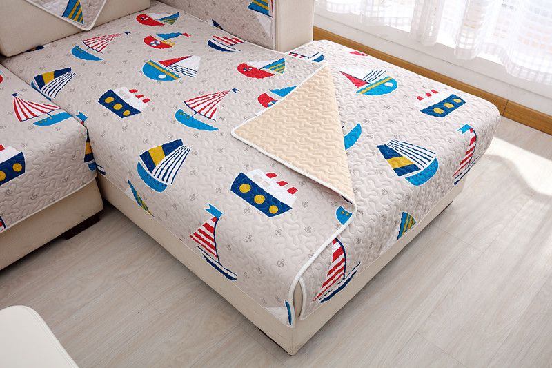 2018 new kind SUPERIA 100%cotton sheet of cartoon new kind sofa cushion set home textile skidproof four seasons of living room