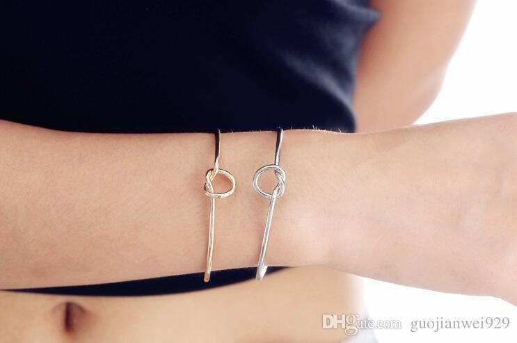Europe and the United States Jewelry Simple Wind Diy Bracelet Personalized Knot Bangle Love Bracelets Tie Bangles