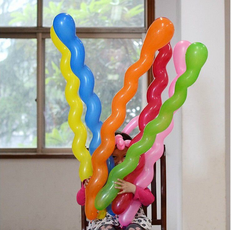 Twist Spiral Latex Balloons irregural Wedding Kids Birthday Party Celebrating Creative Cute Lovely Decor Toy GIFT Multicolor Air Ball