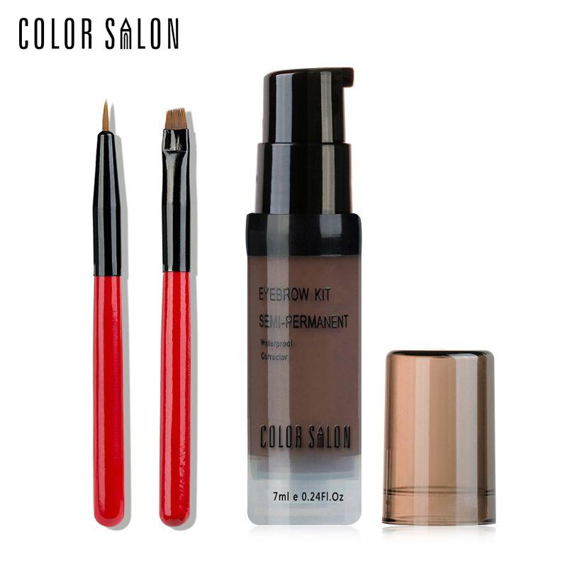 Color Salon Waterproof wax Eyebrow brush set Paint Make-up Cream Make up Eyebrow Paint Natural Enhancer Long-lasting Cosmetic
