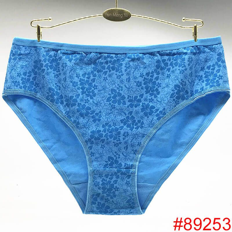 09740108d1b3 Panties · Large Size Sexy Womens Underwear Beautiful Flower Printed Hot  Briefs Mature Women Panties Soft Cotton Panties
