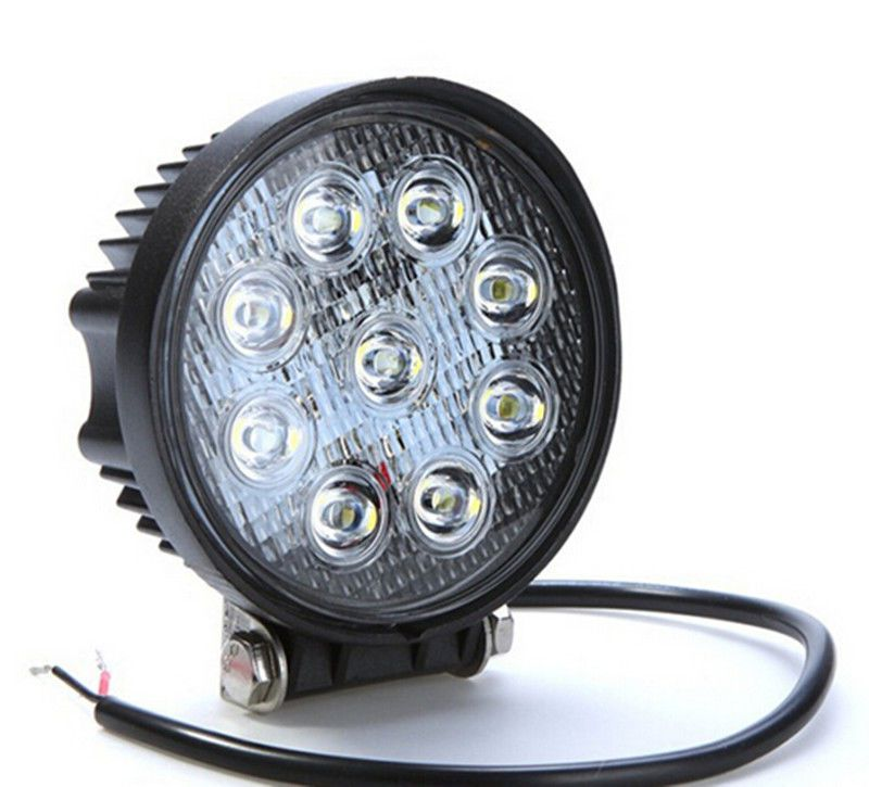"4"" inch white 4x4 SUV Tractor Train Bus Spot/Flood 27W LED Work Light off-road fog working lights bulbs headlights"