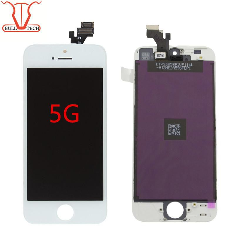 Grade A+++ LCD Display Touch Screen Digitizer Shenchao Brand Assembly With Frame Repair Replacement For iPhone 5 iPhone 5s 5SE iphone 5c
