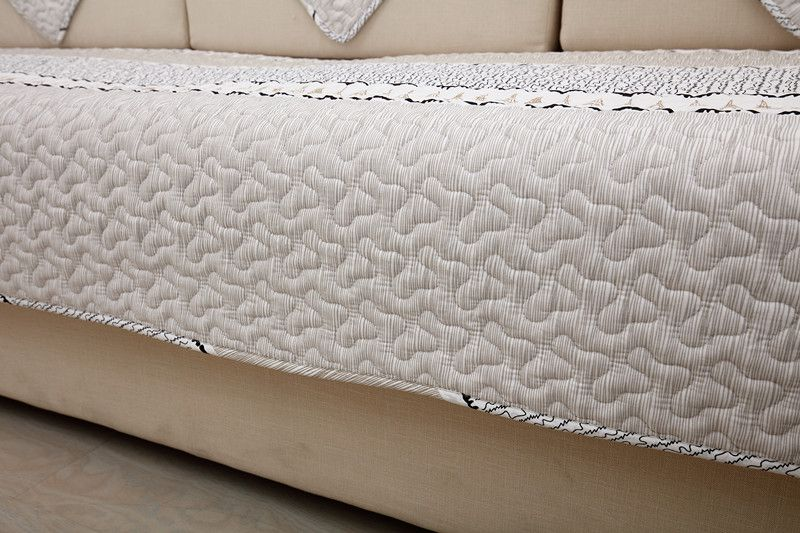 2018 new kind grey simply 100%cotton skidproof living room four seasons of sofa cover set bay window cushion