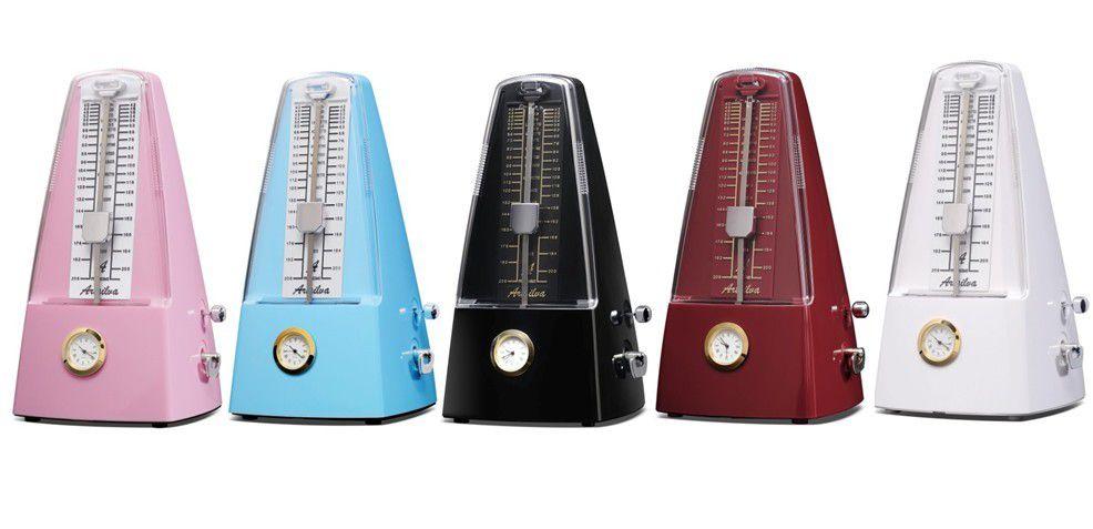 Metronome Pyramid traditional Music Mechanical Metronome with clock Artsilva Music Metronomes Piano Violin Guitar Music Instrument