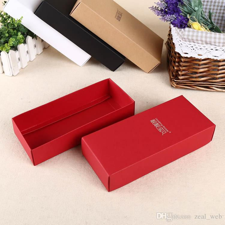 2016 hotsales small present boxes kraft and cardboard packaging box 3 color accept costom logo(2)