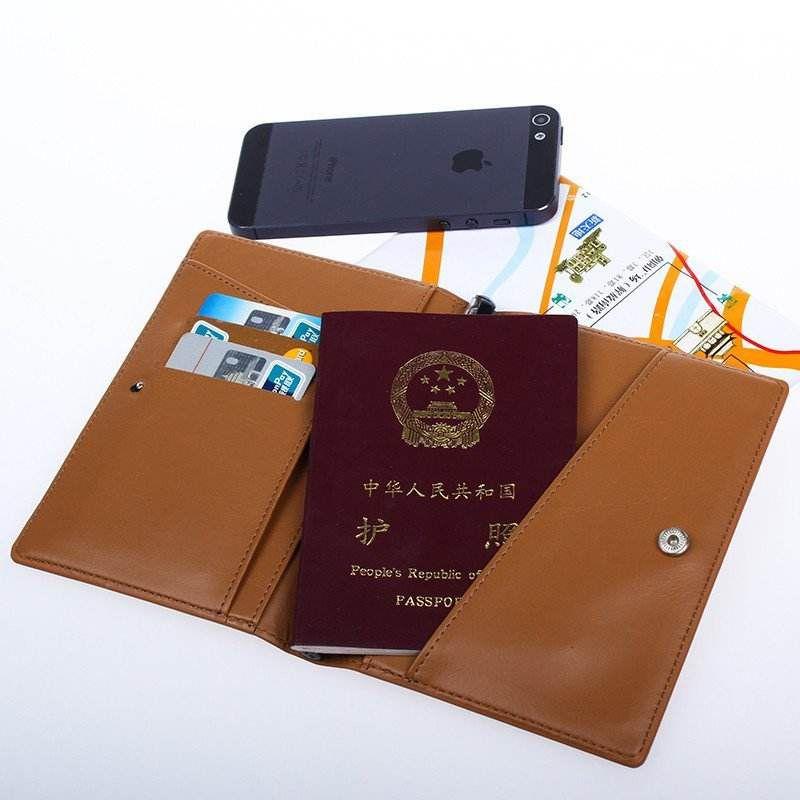 Chemical fiber passport bag Customizable