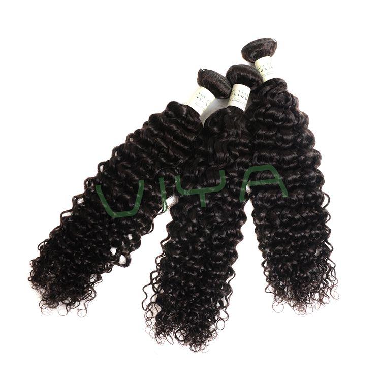 VIYA Indian Curly Human Hair Wave 3 Bundles WY0831H