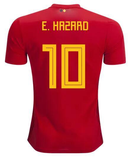 a1fea3379 Belgium red home jersey 2018 World Cup Hazard De Bruyne Lukaku Football  Shirt