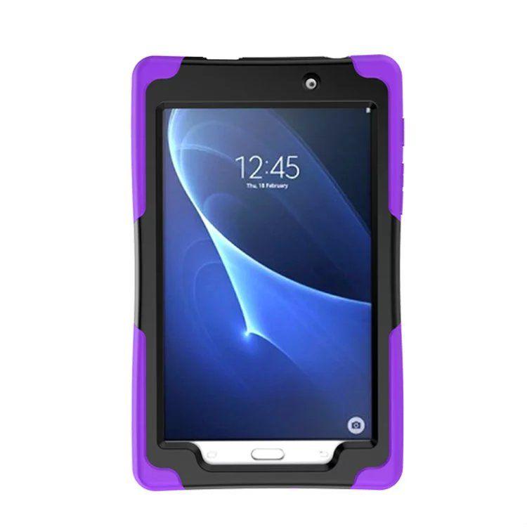 Shock Wave Hybrid Silica gel + PC Shockproof Back Cover Stand Case for iPad Mini1234 iPad 234 Air 2 Samsung Tab E Tab4 Lite
