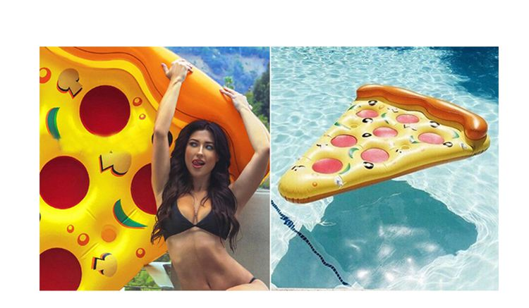 Adults Kids Inflatable Swimming Floating Air Mattress Summer Water Toy Float 1.8M Pizza Ride-on Floats Swim Ring Water Boat Kickboard Beach