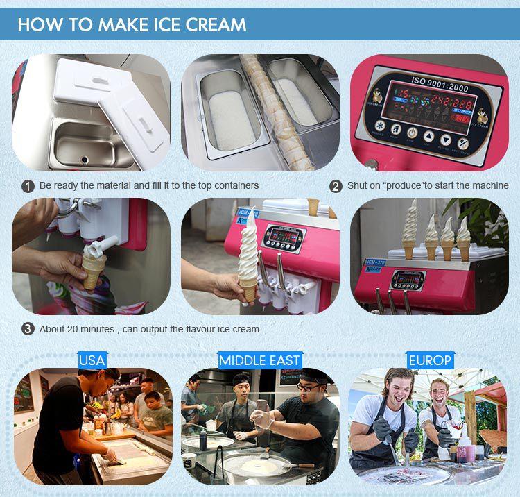 7 mixed flavors Kolice soft ice cream machine yogurt ice cream machine