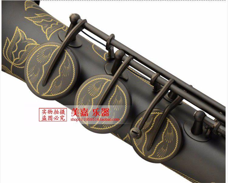 Musical Instruments Top French Selmer 54 B Soprano saxophone matte black pearl gold key free shipping