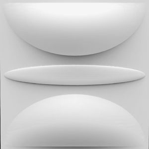 Waterproof Modern Simple Wall Decorative ADEL shape Designed Light-weight 3D PVC Wall Panels