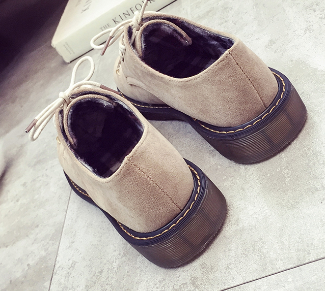 Shoes custom design spring and autumn scrub small shoes female flat with single shoes casual shoes retro Bullock British style